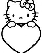 Hello Kitty y su corazón