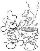 Mickey preparando una barbacoa