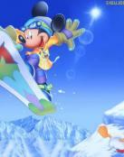 Mickey en la nieve