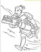 Mulán lucha contra los Hunos