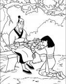Mulán y su padre