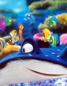 Todos van a la escuela debajo del mar