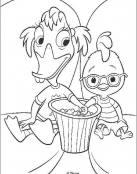 Abby y Little comiendo palomitas