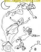 Peter Pan volando con los hermanos