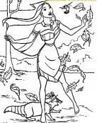 Pocahontas está de paseo por el bosque
