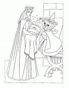 La princesa Aurora de bebé