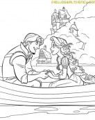 Rapunzel y el príncipe en la barca
