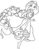 Rapunzel con una preciosa trenza