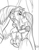 Rapunzel con el caballo