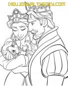 Los reyes con Rapunzel en brazos