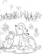 Bambi y Tambor se rien por causa del viento