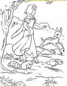 Blancanieves en el bosque