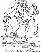 Blancanieves y el príncipe van en caballo
