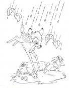 Cae la lluvia en el bosque de Bambi