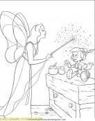Pinocho con su hada madrina