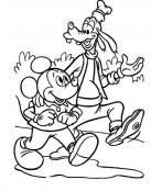Goofy y Mickey de paseo