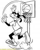 Goofy jugando al baloncesto