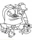 Hora de comer de pequeños Dalmatas