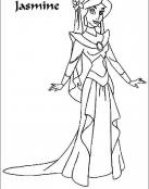 Jasmine vestida de gala