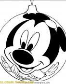 Mickey Mouse en bola de Navidad