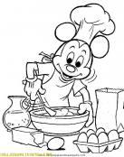 Mickey Mouse de cocinero