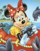 Minnie con delfines