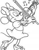 Minnie tocando el violín