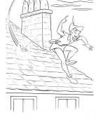 Peter Pan corre por el tejado
