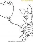 Piglet y su globo de corazón