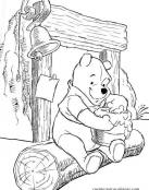 Winnie The Pooh comiendo miel