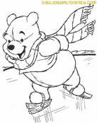 Winnie The Pooh patina sobre hielo