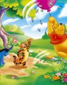Felicidad en el bosque de Winnie The Pooh