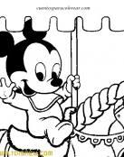 Bebé Disney en su caballito