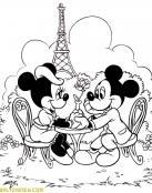 Cena romántica de Minnie y Mickey
