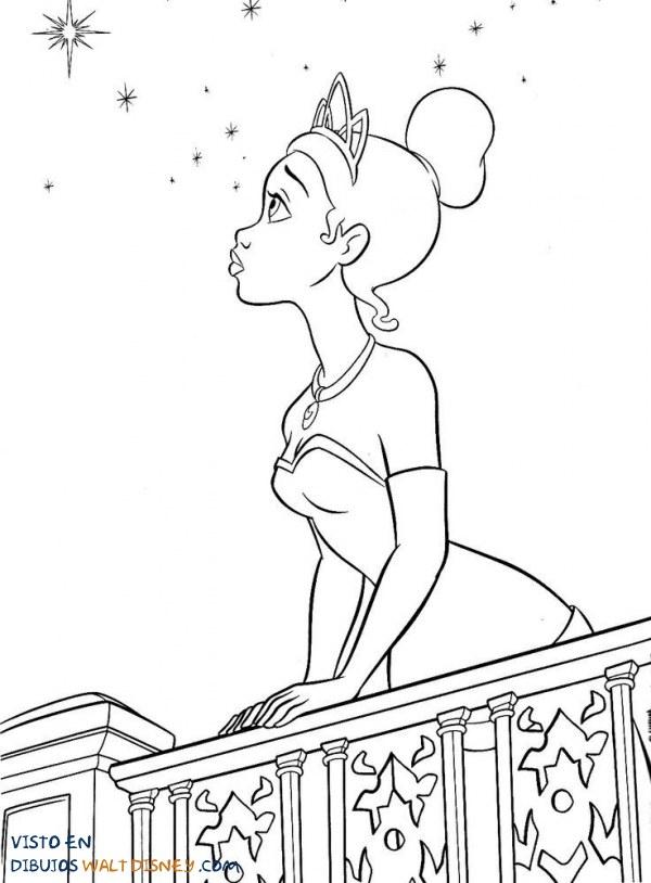 Tiana mirando las estrellas